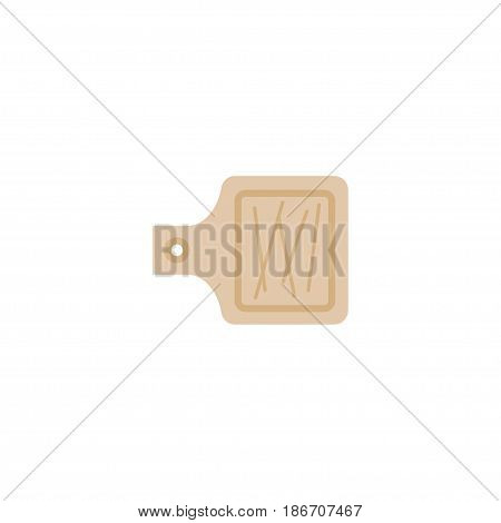 Flat Cutting Board Element. Vector Illustration Of Flat Breadboard Isolated On Clean Background. Can Be Used As Cutting, Board And Breadboard Symbols.