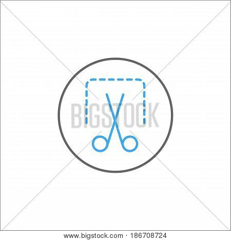Screenshot solid icon, mobile sign and scissors, vector graphics, a colorful linear pattern on a white background, eps 10.