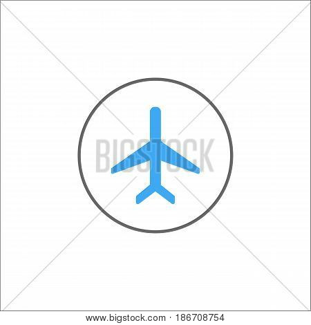 Airplane mode solid icon, mobile sign and plane, vector graphics, a colorful linear pattern on a white background, eps 10.