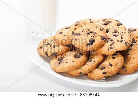 Chocolate isolated cookies chocolate cookies sweets baked goods food