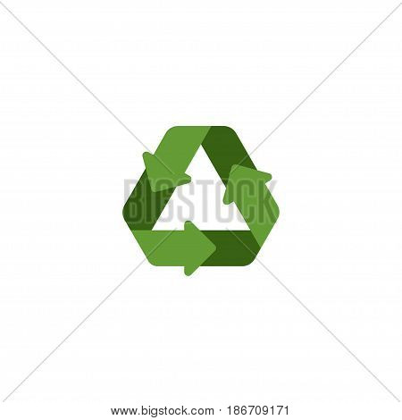 Flat Recycle Element. Vector Illustration Of Flat Conservation Isolated On Clean Background. Can Be Used As Conservation, Recycle And Reuse Symbols.