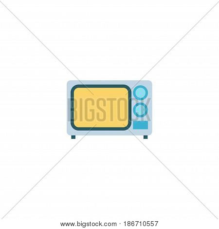 Flat Microwave Element. Vector Illustration Of Flat Electric Stove Isolated On Clean Background. Can Be Used As Microwave, Kitchen And Stove Symbols.