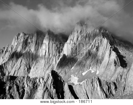 Mount Whitney In A Storm