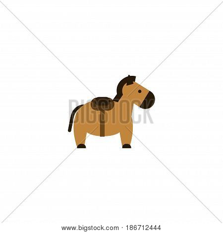 Flat Horse Element. Vector Illustration Of Flat Zebra  Isolated On Clean Background. Can Be Used As Horse, Zebra And Animal Symbols.