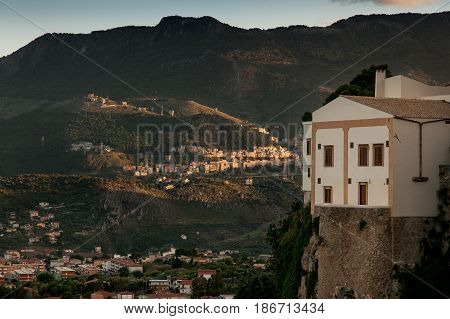 Monreale Italy - October 13, 2009: Panoramic View