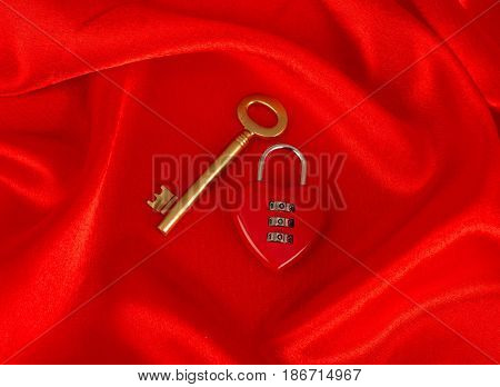 Key red love romance heart heart shape key to my heart