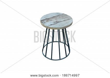 Wooden with steel legs simplistic bar chair work with path.