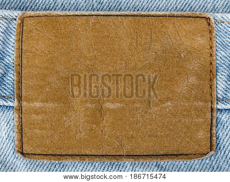 Denim jeans jeans blank label label isolated closeup clothing