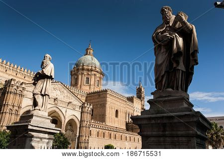 Palermo, Italy - October 14, 2009: The Cathedral Church Of The Roman Catholic Of Palermo, Sicily, It
