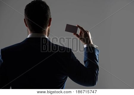 Agent Of Insurance, Man With Business, Credit Card, Business Ethics