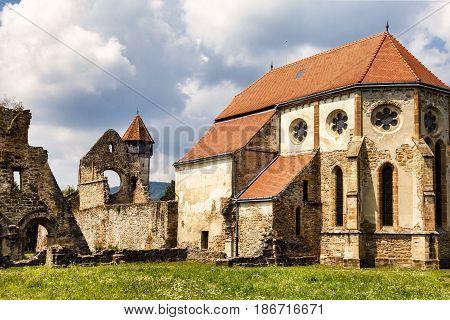 Carta, Romania The old ruined cistercian abbey from Transylvania