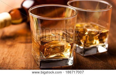 Alcohol glasses whiskey drink whisky bourbon scotch