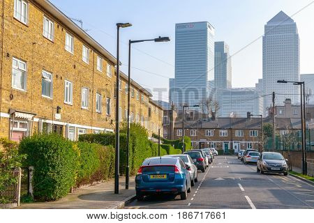 Canary Wharf Seen From East London