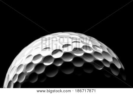 Golf golf ball ball black competition sport isolated
