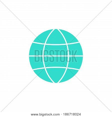 Globe station solid icon, world and earth, vector graphics, a colorful flat pattern on a white background, eps 10.