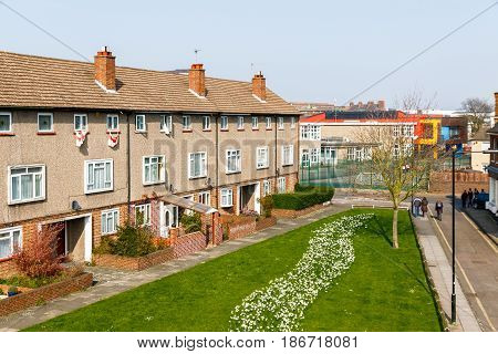 Council Housing Block In The Uk