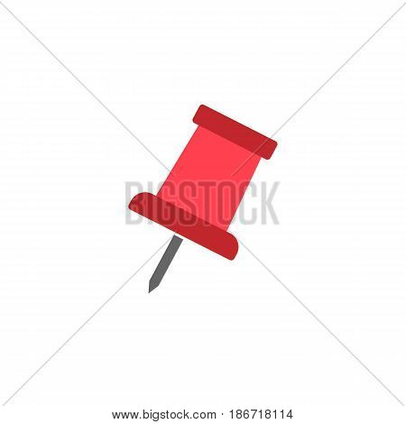 Push pin solid icon, office and school sign, vector graphics, a colorful flat pattern on a white background, eps 10.