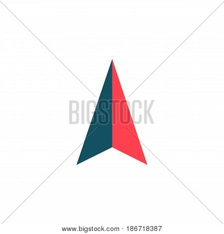 Location arrow solid icon, navigation and gps sign, vector graphics, a colorful flat pattern on a white background, eps 10.