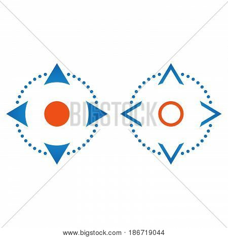 Button With Arrows In Four Direction Line Icon, Outline And Solid Vector Sign, Linear And Full Picto