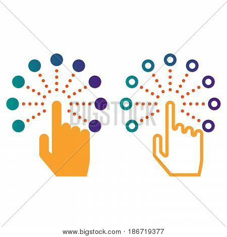 Interactive Touch Screen Interface Line Icon, Outline And Solid Vector Sign, Linear And Full Pictogr