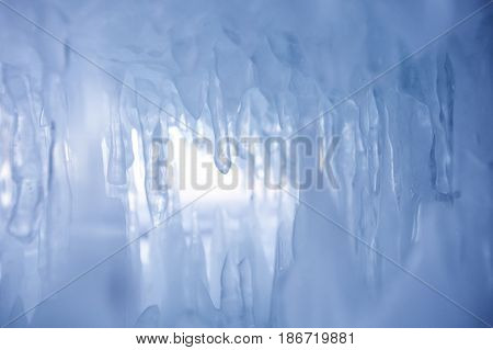 Icicles. Winter Nature Background