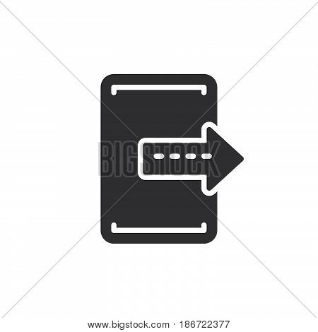 Export exit icon vector filled flat sign solid pictogram isolated on white. Symbol logo illustration. Pixel perfect