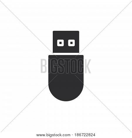 Usb stick icon vector filled flat sign solid pictogram isolated on white. Symbol logo illustration. Pixel perfect
