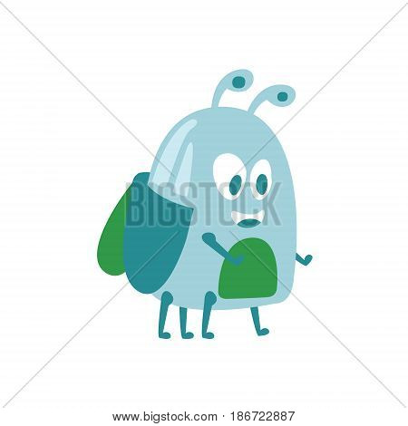 Funny cute cartoon midge colorful character vector Illustration isolated on a white background
