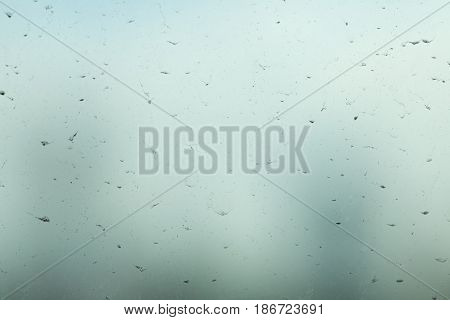 Glass building dust dust slough on the sheet glass Select focus