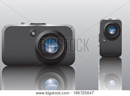 Camera, smartphone behind, background, people, equipment, camera, no, shot, studio, close-up