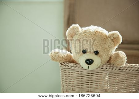 Teddy Bear toy alone waiting for someone to have hope.