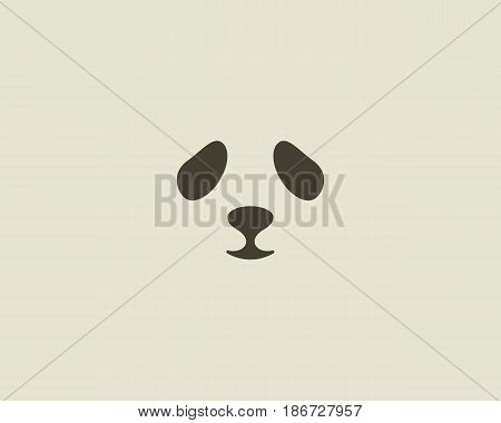 Panda face vector logo. Seal logotype. Sea lion zoo symbol icon design.
