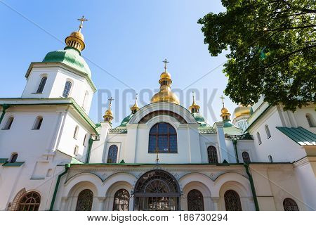 Facade Of Saint Sophia Cathedral In Kiev City