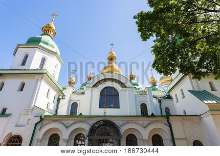 Front View Of Saint Sophia Cathedral In Kiev City