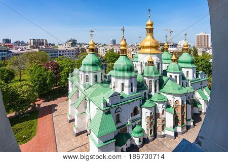 Above View Of Building Of Saint Sophia Cathedral