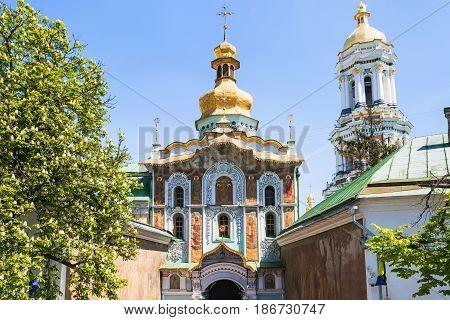 Gate Church Of The Trinity In Kiev City