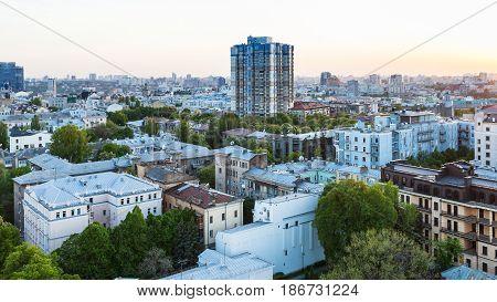 Residential District In Kiev In Spring Evening