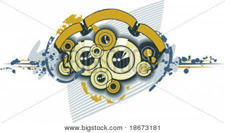 Disks Sub-woofer Ornament Texture