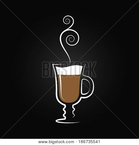 Latte logo. Coffee cup design background 10 eps