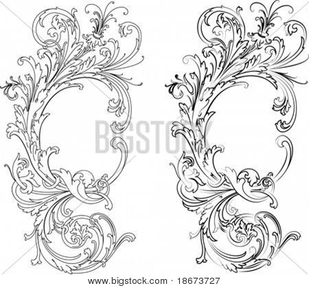 Baroque Two Styles: Traditional and Calligraphy