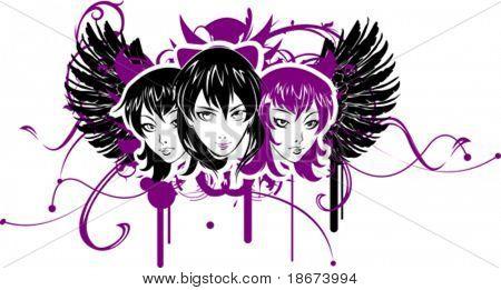 Three Emo Girls