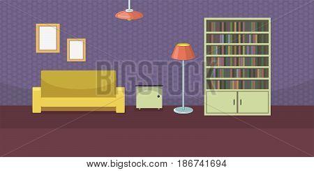 Personal room horizontal concept. Cartoon illustration of personal room banner horizontal vector for web