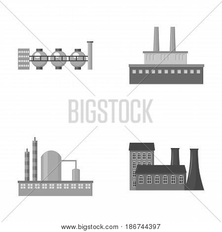 Industry, production.Factory set collection icons in monochrome style vector symbol stock illustration .