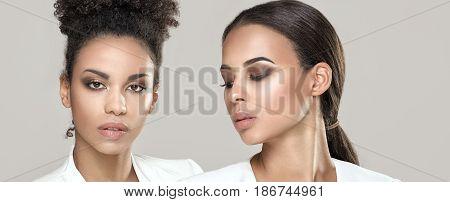 Two Elegant African Woman Posing.