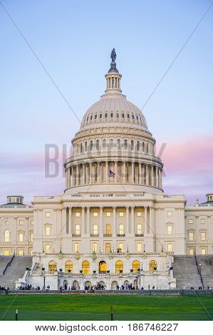 The Capitol in Washington DC - beautiful evening view - WASHINGTON DC - COLUMBIA
