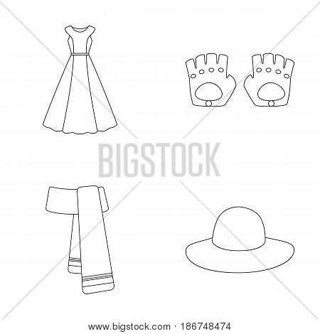 Dress, clothes, fashion, style and other clothes. Clothes set collection icons in outline style vector symbol stock illustration web.