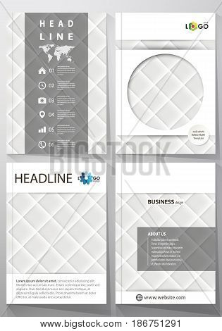 Business templates for brochure, magazine, flyer, booklet or annual report. Cover design template, easy editable vector, abstract flat layout in A4 size. Shiny fabric, rippled texture, white color silk, colorful vintage style background.