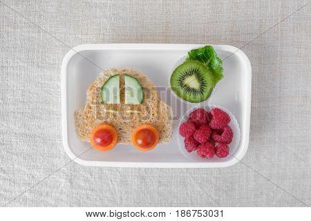 Car Lunch Box, Fun Food Art For Kids