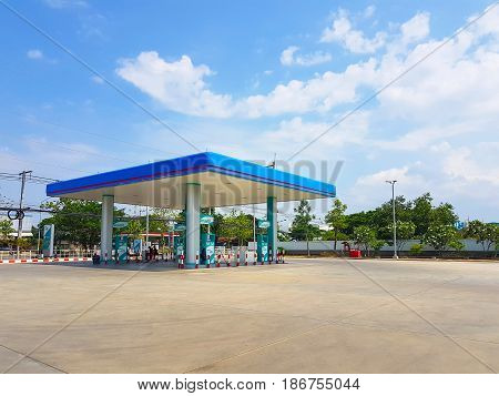 CHIANG RAI THAILAND - MAY 8 : empty LPG gas station on May 8 2017 in Chiang rai Thailand.