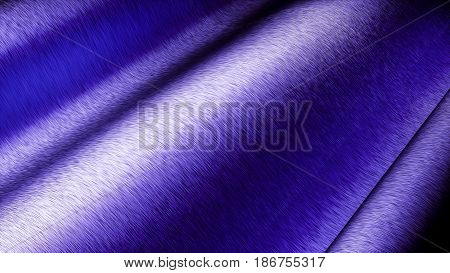 Blue Car wrapping film roll brushed clode up background. 3d illustration